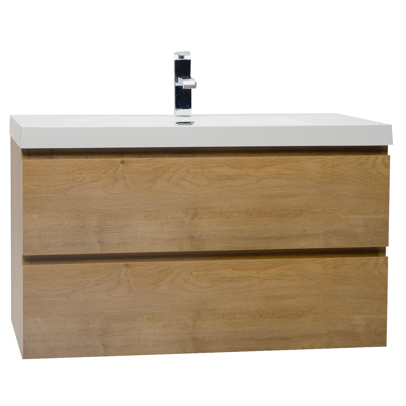 Buy Angela 355 Inch WallMount Bathroom Vanity in Natural