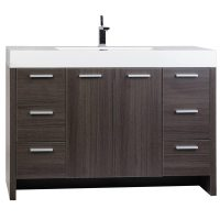 Buy 47.25 Inch Modern Bathroom Vanity Grey Oak Finish TN
