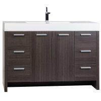 Buy 47.25 Inch Modern Bathroom Vanity Grey Oak Finish TN ...