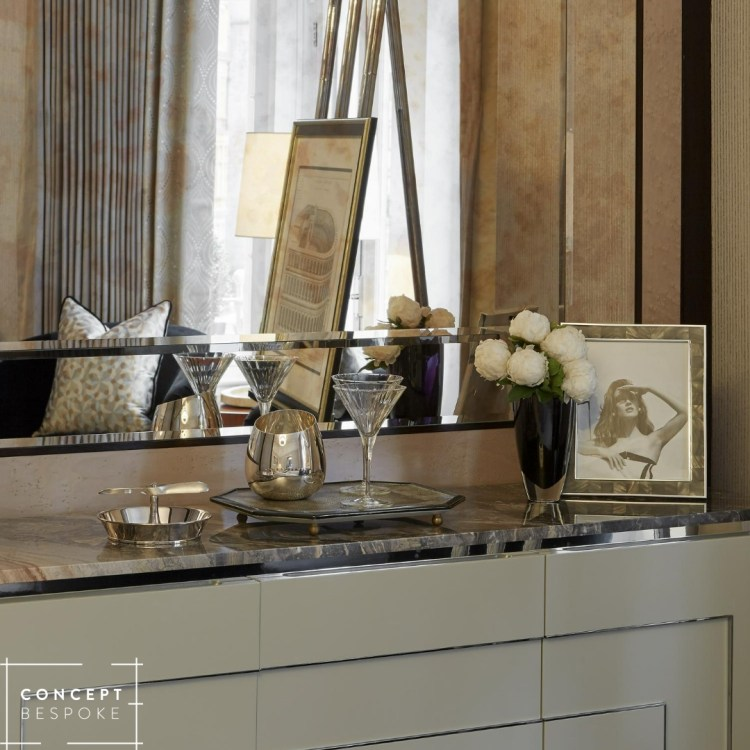 The bespoke sideboard of one of our projects.
