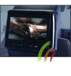 rss 905m 9 lcd headrest w wireless screencasting  [ 1000 x 1000 Pixel ]