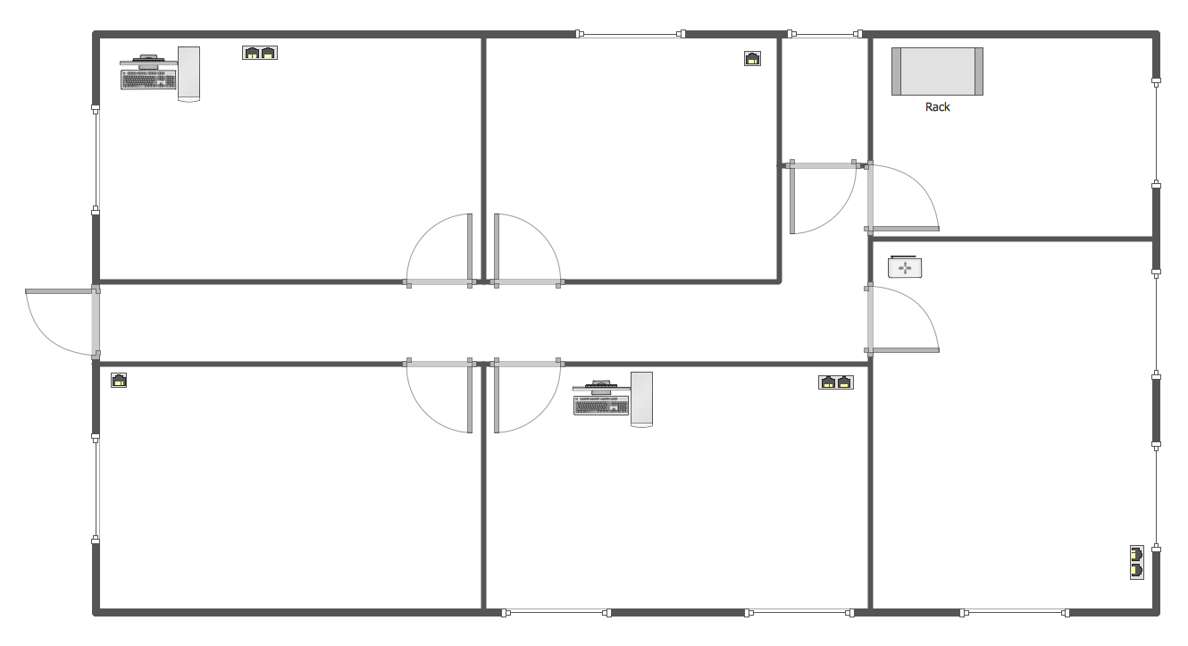 Network Layout Floor Plans Solution. ConceptDraw.com