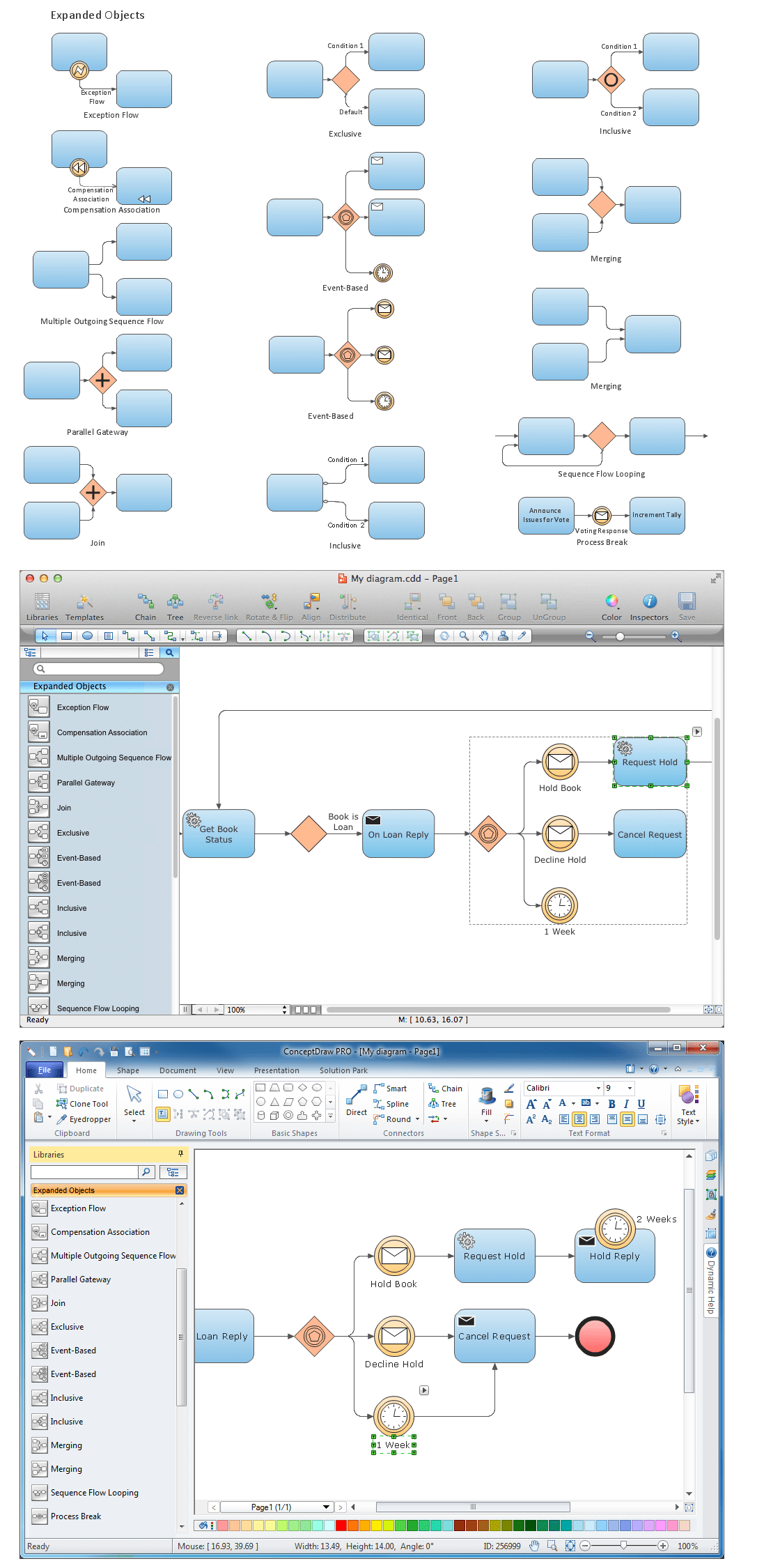 hight resolution of diagramming software for business process