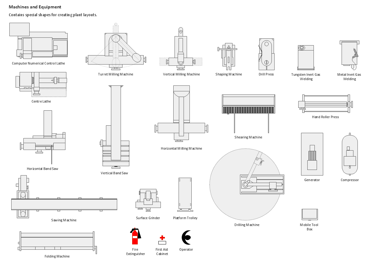 Design Element Machines And Equipment