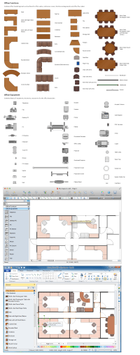 Building Drawing Tools | Design Element  Office Layout Plan
