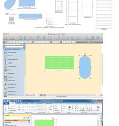 building drawing software design elements sport fields [ 1200 x 2250 Pixel ]
