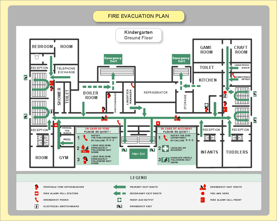 example of fire exit diagram ceiling fan wiring australia emergency plan create great looking easily with evacuation