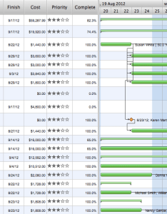 Project management software gant chart new product launch execution also how to report task   with gantt rh conceptdraw