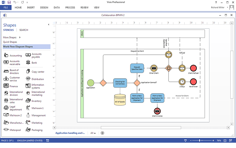visio application diagram crx radio wiring how to create a ms business process basic flowchart