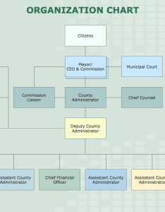 Organization chart county administrator office also business board org rh conceptdraw