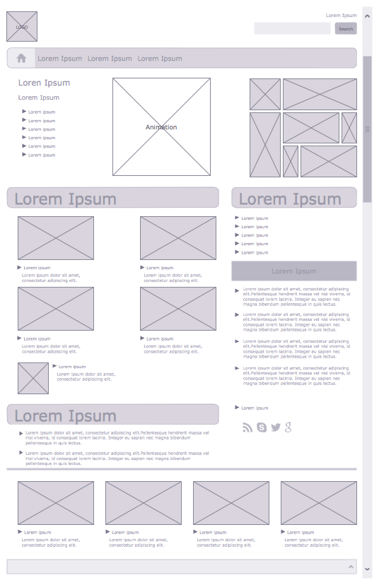 website wireframe diagram example pert template examples