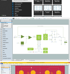 wiring diagrams with conceptdraw pro [ 2560 x 4690 Pixel ]