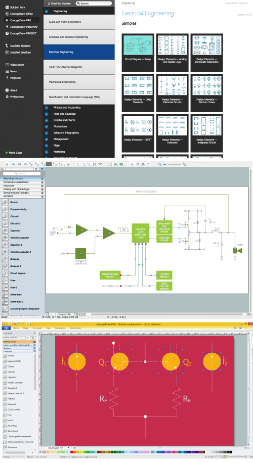 small resolution of wiring diagram with conceptdraw diagram v12