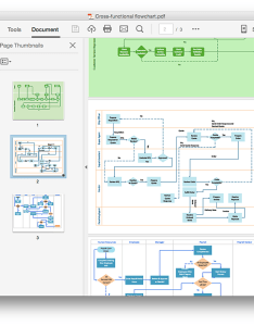 Cross functional flowchart export to pdf also shapes stencil rh conceptdraw