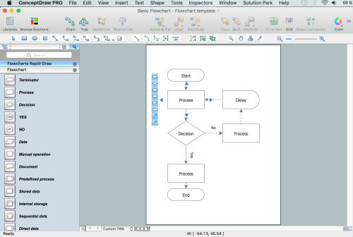 small resolution of how to create a flowchart using conceptdraw free trial for macprocess flow diagram mac 6