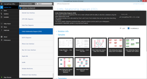 small resolution of entity relationship diagram erd solution in conceptdraw store