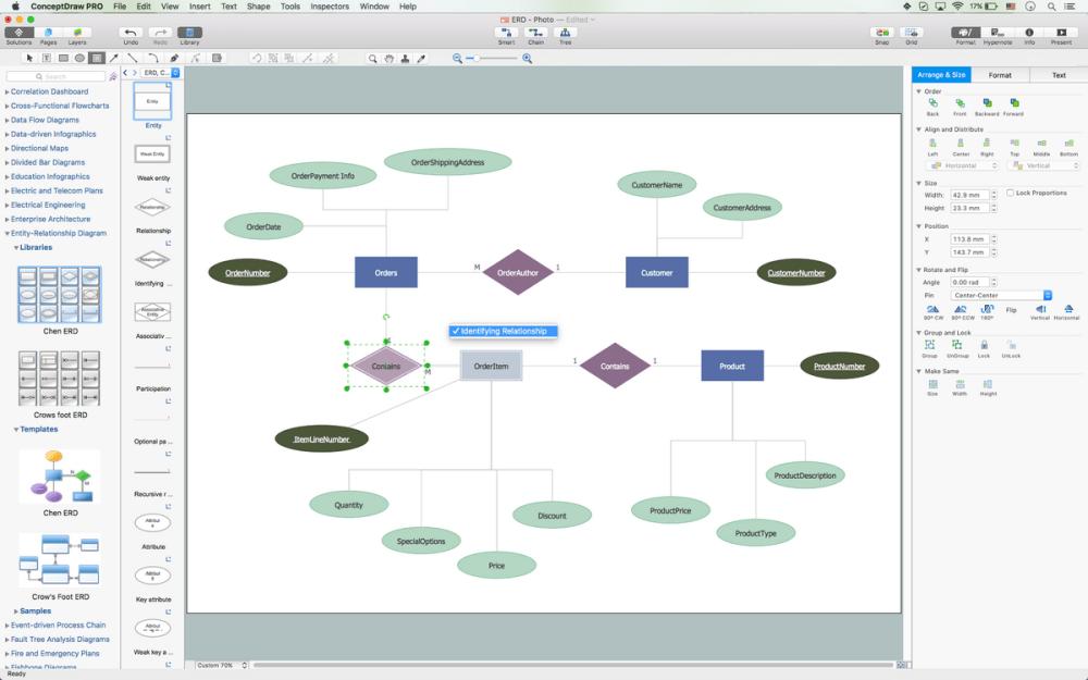 medium resolution of entity relationship diagram erd software