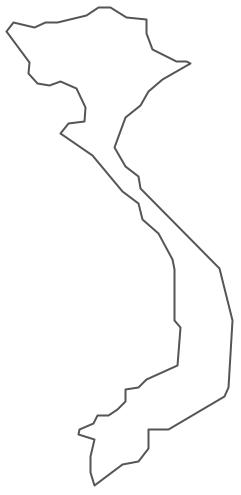 Vietnam Map Drawing