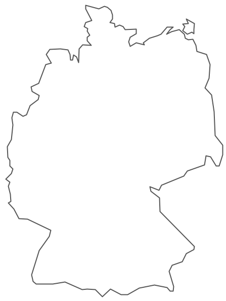 Germany Map Drawing