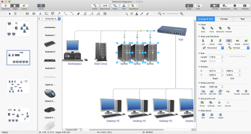 small resolution of open any computer network diagram created with conceptdraw diagram conceptdraw network diagram