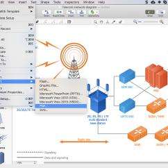 Telecom Network Diagram Microsoft Stick Welder Circuit Converting A Telecommunication To Pdf Conceptdraw How Convert Adobe