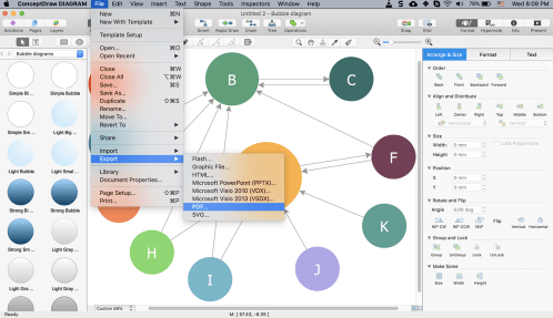 small resolution of  created using conceptdraw diagram bubble diagram