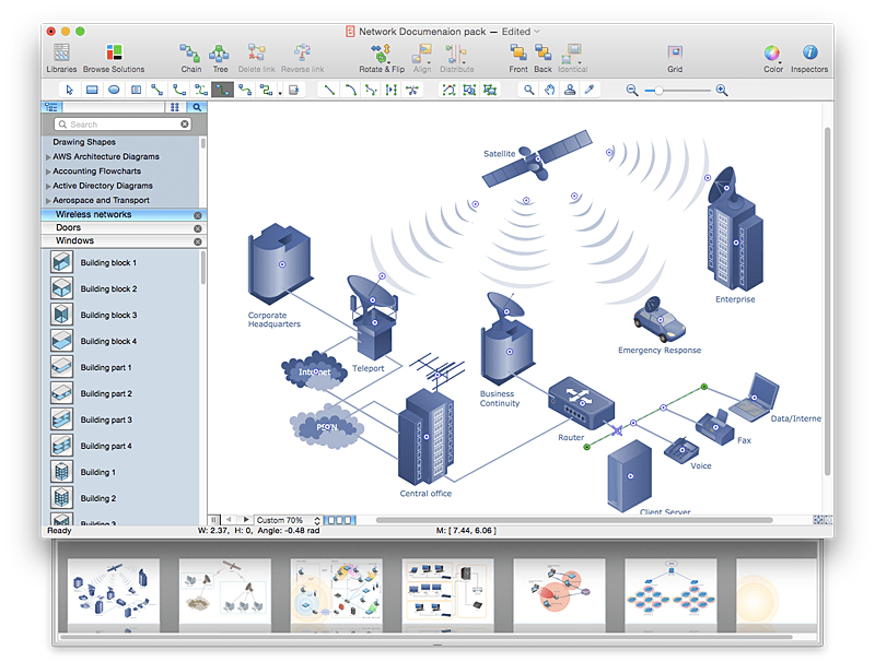 Create PowerPoint Presentation From A Network Diagram ConceptDraw