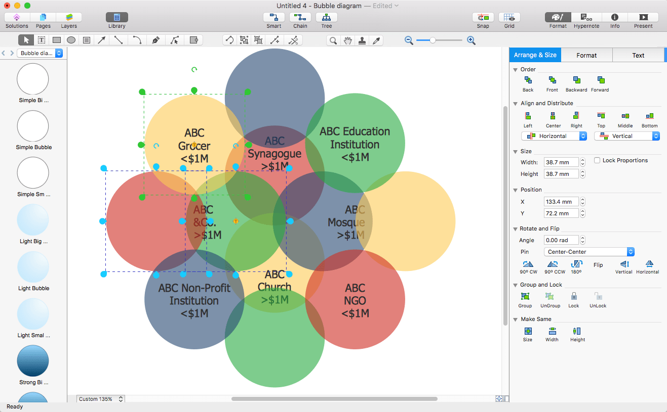 entity relationship diagram template dual battery isolator wiring boat add a bubble to ms word | conceptdraw helpdesk