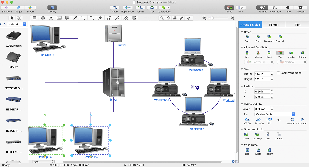 hight resolution of  conceptdraw network diagram