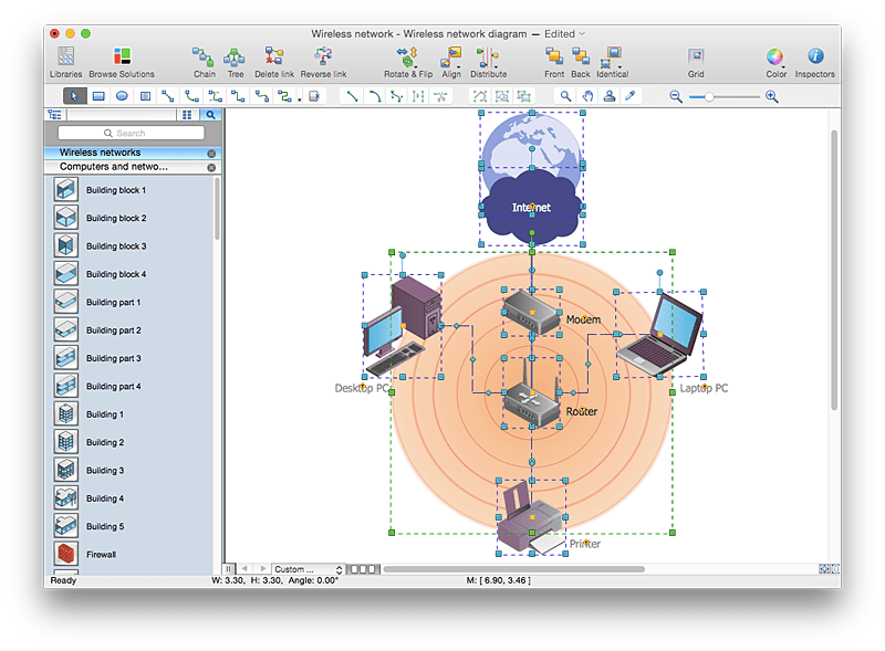 Add A Wireless Network Diagram To A MS Word Document ConceptDraw