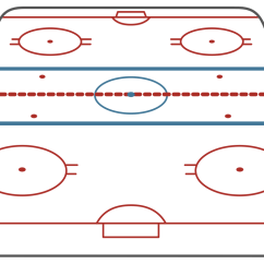 Nhl Hockey Rink Diagram Printable Subaru Forester Rear Suspension Ice Short Side View Template
