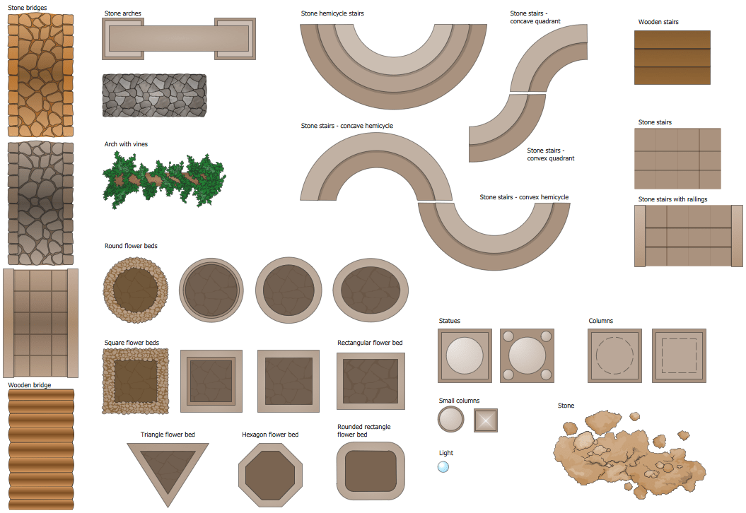 wooden beach chairs plans hanging bubble chair cheap landscape design software | draw landscape, deck and patio with conceptdraw
