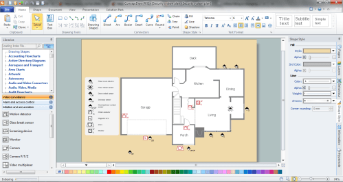 small resolution of physical security plan in conceptdraw diagram title