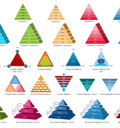pyramid diagrams library design elements [ 1112 x 825 Pixel ]