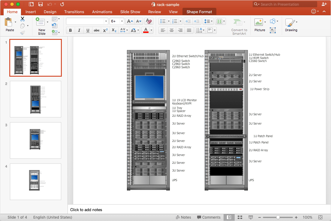 hight resolution of how to add a rack diagram to a powerpoint presentation