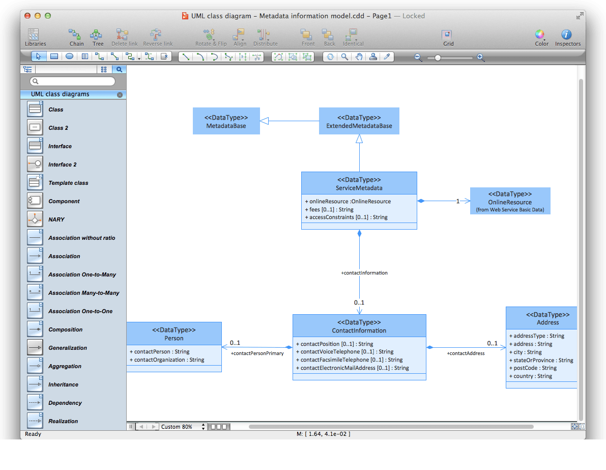 hight resolution of conceptdraw diagram workspace is clear and simple all tools you need for drawing uml class diagram are on hand