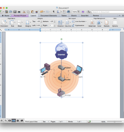 how to add a wireless network diagram to a ms word document using conceptdraw pro [ 941 x 914 Pixel ]