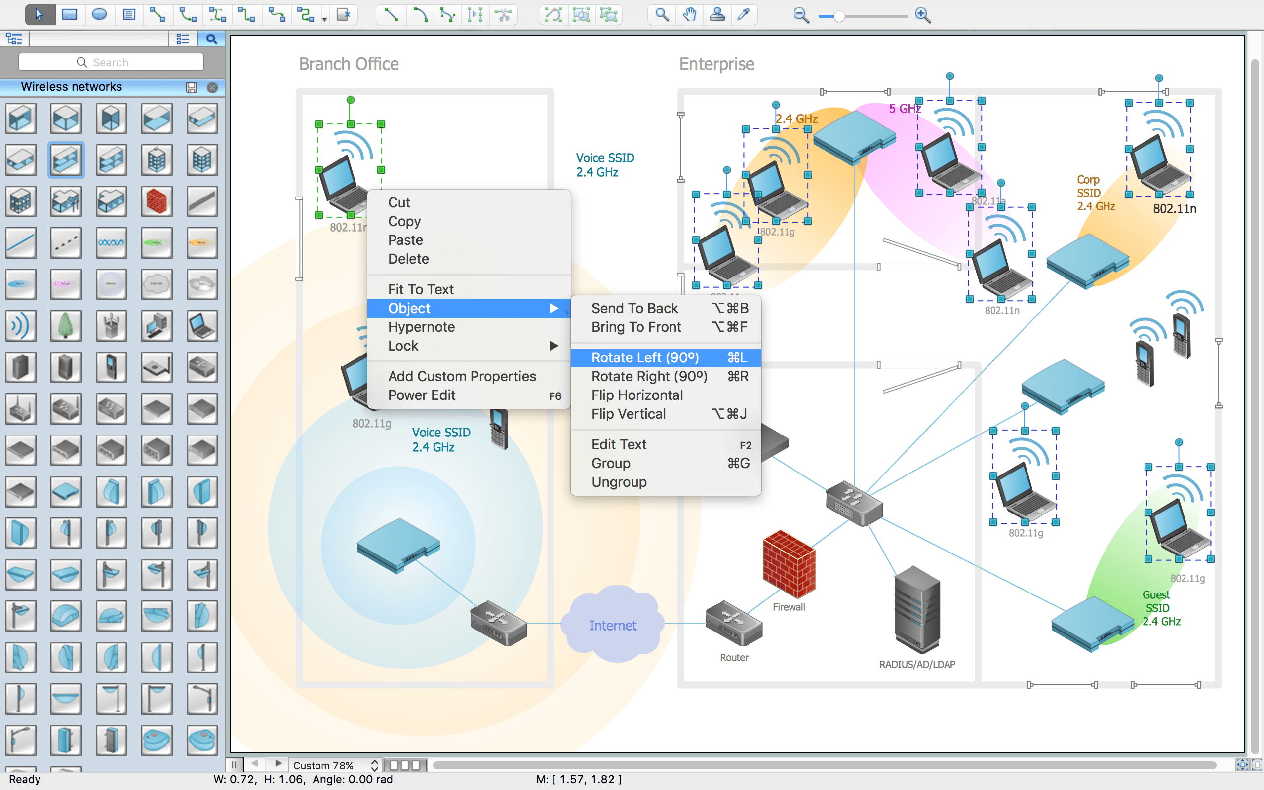 Wireless Network Drawing ConceptDraw Pro Is An Advanced Tool For
