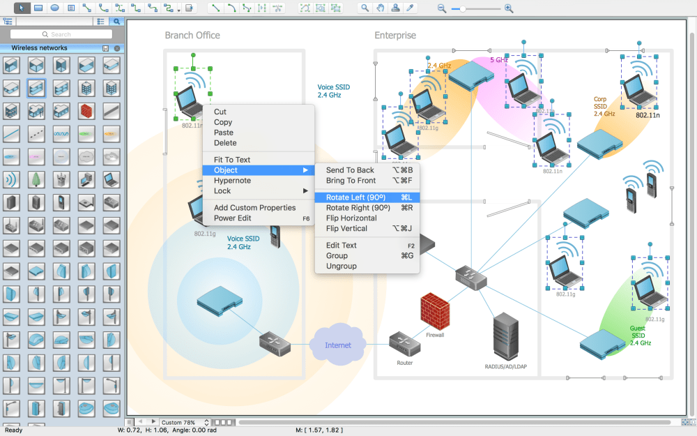 medium resolution of wireless network drawing conceptdraw diagram is an advanced toolwireless network drawing