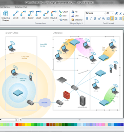 wireless networking in conceptdraw diagram title  [ 1366 x 729 Pixel ]