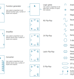 schematic symbols from electrical engineering design elements analog and digital logic [ 1413 x 671 Pixel ]