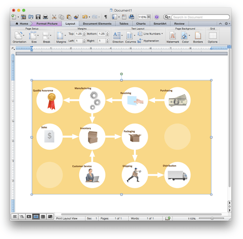 small resolution of how to add a workflow diagram to a ms word document using conceptdraw pro
