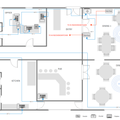 How To Draw House Wiring Diagram Towbar Trailer Plug Conceptdraw Samples | Computer And Networks — Network Layout Floor Plan