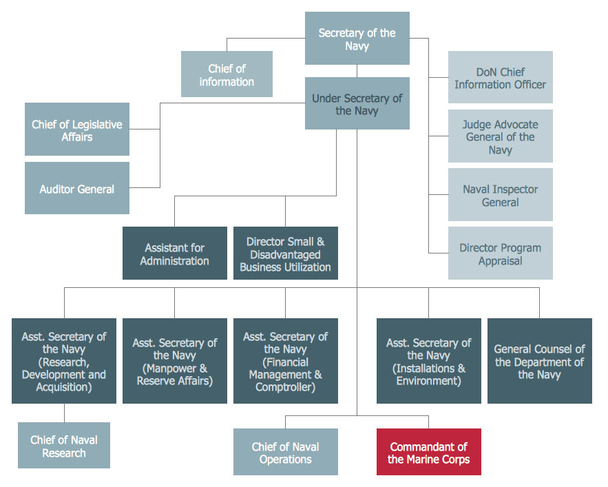 organizational structure of a company sample
