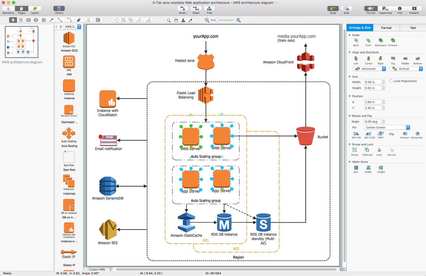 how to draw application architecture diagram volleyball 4 2 rotation aws diagrams solution conceptdraw