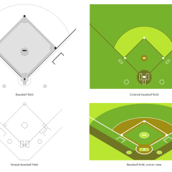 Little League Baseball Field Diagram Swimming Pool Sand Filter Solution Conceptdraw