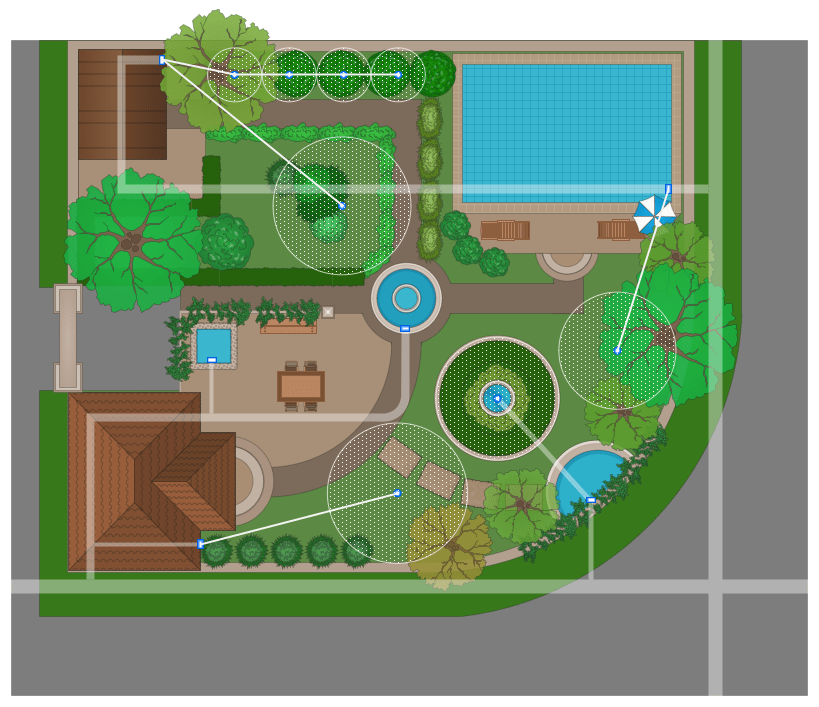 landscape concept design diagram 7 pin trailer wiring with brakes & garden solution | conceptdraw.com
