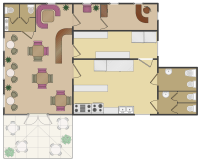 Cafe Floor Plans | Professional Building Drawing