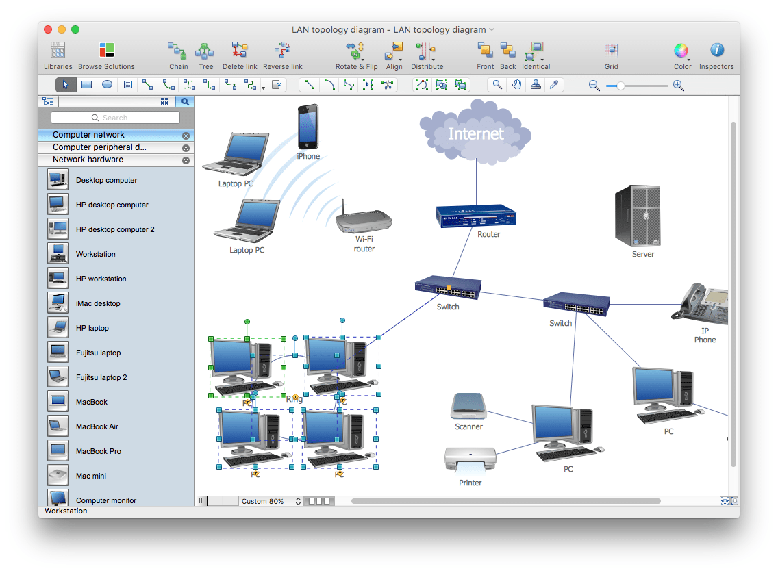 network diagram software for mac 67 72 chevy truck wiring computer diagrams solution os x