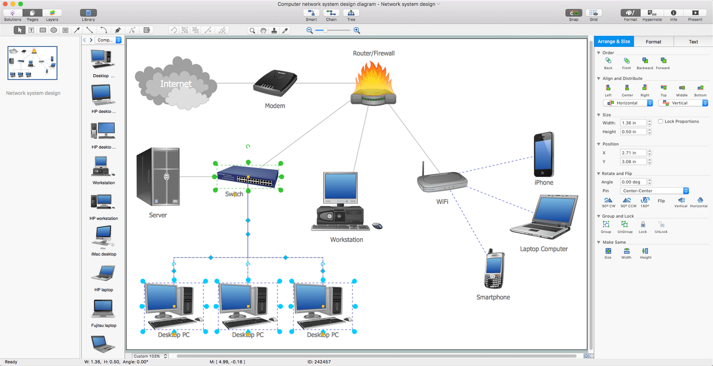 hight resolution of computer network diagrams solution for mac os x